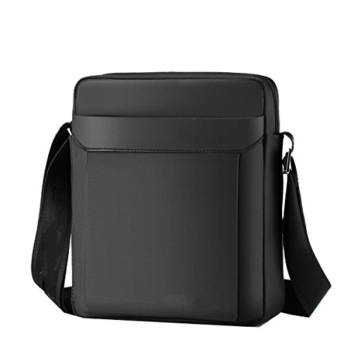 Uomo Yy.f Borsa Tracolla Sacchetto Impermeabile Sacchetto Del Messaggero Casual Oxford Business Canvas Casuale Valigetta 3 Colori Black