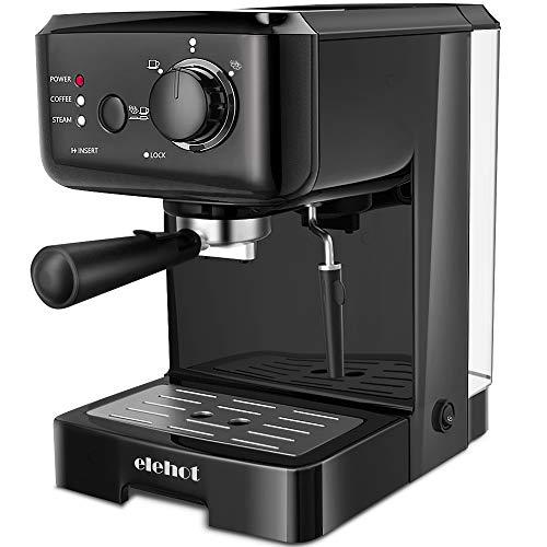 Cafetera Express Cafetera Espresso de Bomba Automática con Boquilla de Espuma de Leche Profesional Presión 15 Bares Capacidad 1.25L para café Capuchino Macchiato