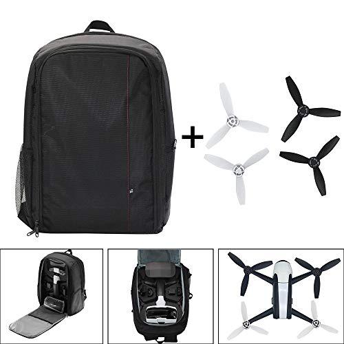 Sunnywill per parrot bebop 2 borsa a tracolla portatile borsa a tracolla + 4pc elica power fpv drone ben fatto e bilanciato set di eliche