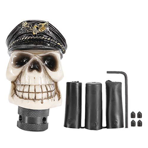 Schaltknauf Hebel, universelles Skelett Schädel Kopf Kappen Art-Auto manuelles Schaltknauf-Stock-Hebel-Schalthebel
