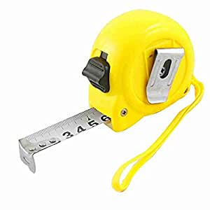 5 Meter Selbst Retractable Yellow Fall Gesperrt Knopf Maßband