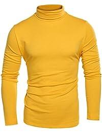 c87082db Coofandy Men's Turtleneck Roll Neck Polo Necks Slim Fit Pullover Sweaters