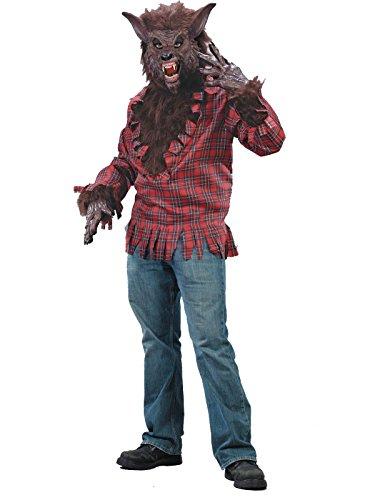 Werwolf Kostüm Braun - Einheitsgröße für Erwachsene (Monsters Inc Erwachsene Kostüme)