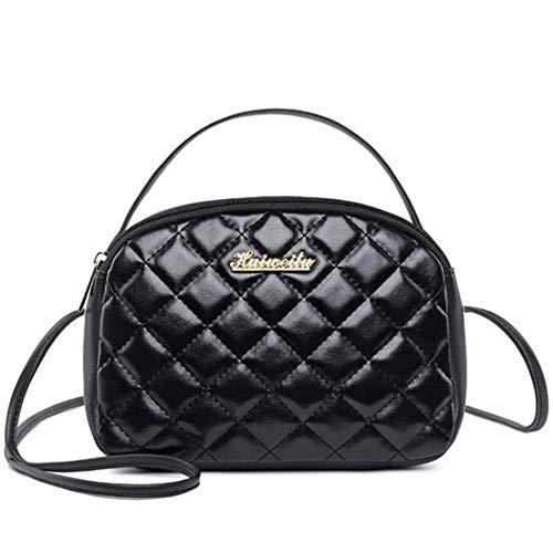 ea3d009174 Cute Shell Black Plaid Lattice Messenger Bags Women Crossbody Bag Female  Shoulder Bags Phone Purse Small Handbags New Arrival,Black,21x5x15cm