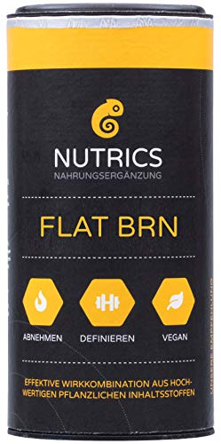 Nutrics FLATBRN 90 Kapseln hochdosiert I 100% Vegane Kombination I Made in Germany