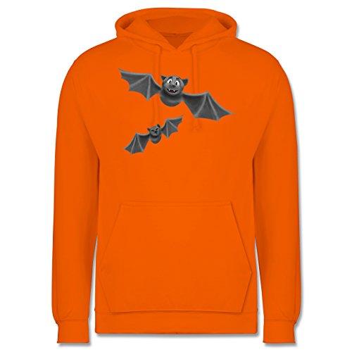 Halloween - süße Fledermäuse - Männer Premium Kapuzenpullover / Hoodie Orange