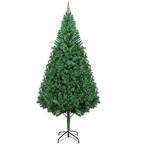 HOMFA 195cm Künstlicher Weihnachtsbaum Tannenbäume Christbaum mit Metallständer 1000 Spitzen schwer entflammbare Materialien Außen/Innen Weihnachtsdeko (Tannenbaum 195cm)