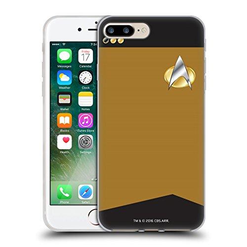 Offizielle Star Trek Captain Uniformen Und Plaketten TNG Soft Gel Hülle für Apple iPhone 6 / 6s Korvettenkapitän