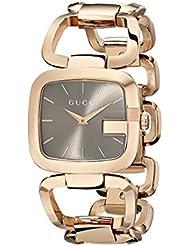 Gucci Damen-Armbanduhr G Analog Quarz Edelstahl beschichtet YA125408