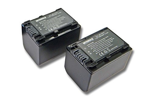 INTENSILO 2X Li-Ion Batería 1500mAh (7.2V) para Videocámara Sony HDR-CX110E, HDR-CX115E, HDR-CX116E por NP-FV70, NP-FV90, NP-FV100.