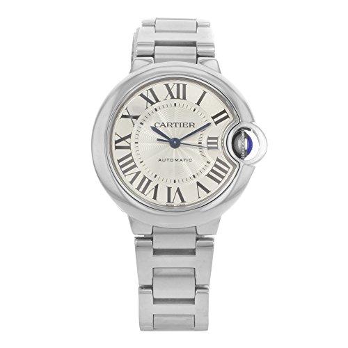 Cartier W6920071 - Orologio da polso da donna, cinturino in acciaio inox colore argento