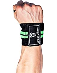 Fasce per i polsi (Coppia) -Wrist Wraps (Nero/Verde)