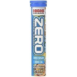 High 5 Zero Tropical Sabor ELECTROLITO y Magnesio deporte Bebida Pastillas (pack de 20) - TRANSPARENTE