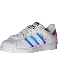 adidas , Jungen Sneaker WhiteGold MetallicBlue 36 EU