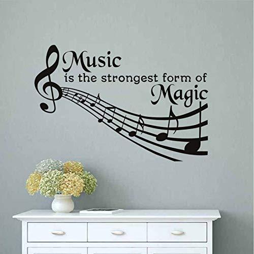 DongOJO Musik ist die mächtigste Form der magischen Wandtattoos. Zitate Abnehmbare DIY Home Decor PVC Wandaufkleber Hinweis Schlafzimmer Kunst 59x39cm (Zitat Spiegel Wand Magische Der An)