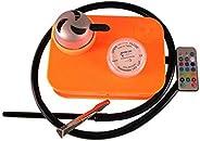 1x - Hookah Set -Acrylic Fashion Shisha including bowl. Orange Color. Led Lamp and Portable with Square Box.