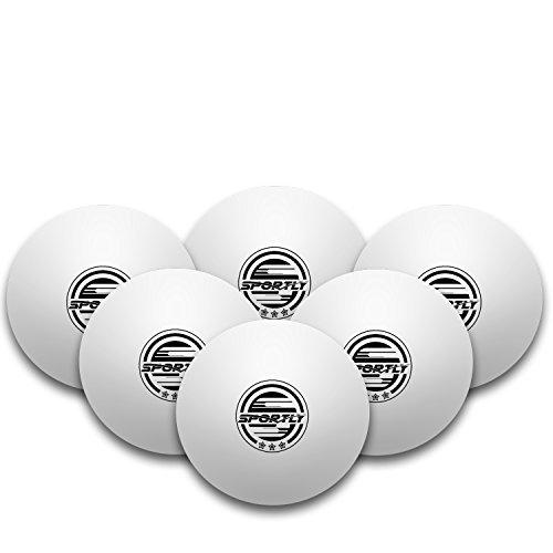 Sportly palline da Ping Pong 3 Star, 40 mm, formazione avanzata regolamento palline, confezione da 6, colore: arancione
