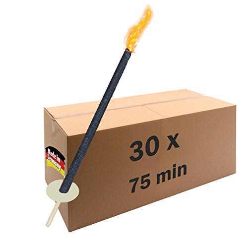 30 Wachsfackeln 60 - 75 min Brenndauer als Fackel oder Gartenfackel