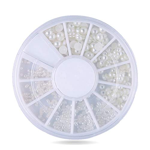 Leoboone 2 mm / 3 mm semi-círculo perla 12 clavo