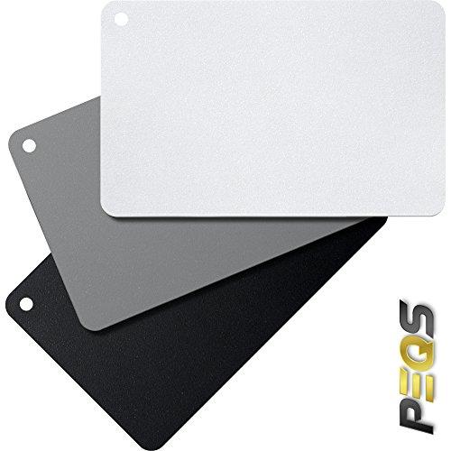 GRAUKARTE • 3-in-1 Graukartenset zur digitalen Belichtungsmessung und Weißabgleich • PEQS
