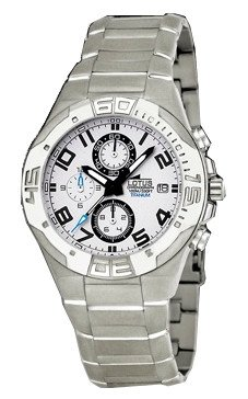 Reloj Lotus crono caballero titanio. Resistente al agua 100 metros