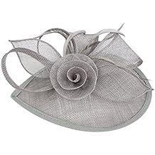 Frcolor Sombrero de Fascinator de Mujer de Novia para Boda Fiesta Banquete  (Gris) 8f54eff7988