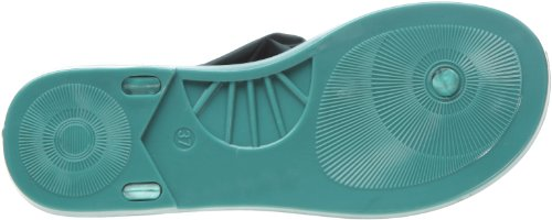 Colors of California Infradito Jelly Con Accessorio, Chaussures basses femme Turquoise (Tur)