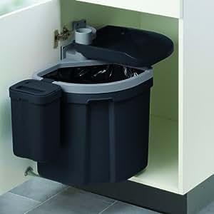 Flexx müllex poubelle avec couvercle bio pour euroFlexx accessoire noir