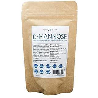 D-Mannose Pulver - Große Packung mit 150g - Made in Germany - vegan und natürlich - Gratis Dosierlöffel - 75 Portionen - 2,5 Monate Vorrat