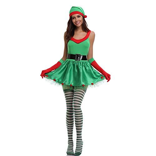 3 Stücke Frauen Weihnachtsmann Weihnachten Kostüm Cosplay Weihnachten -