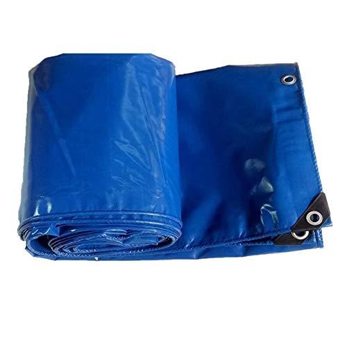 MuMa Bâche Bleu Épaissir Étanche Étanche À La Pluie Ombre Couteau Gratter Tissu Personnalisé (Couleur : Bleu, Taille : 3 * 4m)