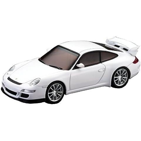 Kyosho D1431030102 - Modellino radiocomandato DSLOT43 Porsche 911 GT3, scala 1:43, colore: Bianco