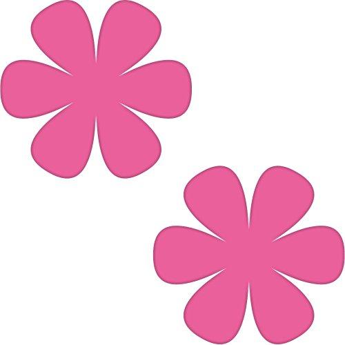 2 Aufkleber Tattoo 8cm Blumen Blümchen für Kinderzimmer Möbel Fliesen Spiegel Tür Auto Heck die cut Deko Folie (pink)