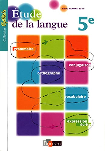 Épithète 5e * Étude de la langue