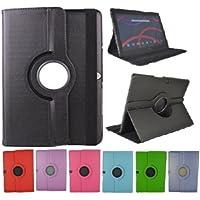 """Theoutlettablet® Funda Giratoria 360º para Tablet Bq Aquaris M10 10.1"""" Book cover case Protección delantera y trasera Color NEGRO"""
