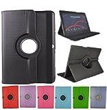 Theoutlettablet® Funda Giratoria 360º para Tablet Bq Aquaris M10 10.1' Book cover case Protección delantera y trasera Color NEGRO