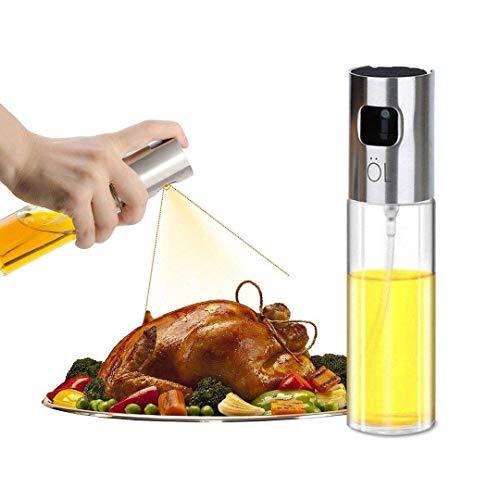Baishilin Oil Sprayer zum Kochen Olivenöl Sprayer Glasflasche - Öl Spray für Essig Rapsöl - Einfach zu Küchengerät für Grill/Pfanne / Grill/Salat / Braten/Friteuse / Kochen verwenden -