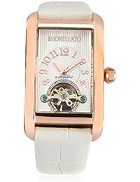 Morellato Time - R0121108503 - Montre Femme - Automatique Analogique - Cadran Blanc - Bracelet Cuir Blanc