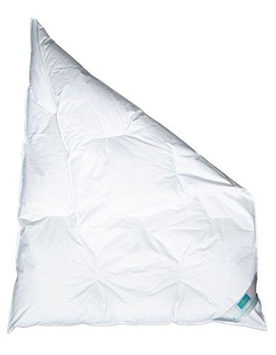"""ZOLLNER® Babydecke / Kinderdecke / Kinderbettdecke versteppt 100x135 cm, weiß, 90% Daunen 10% Federn, in weiteren Größen erhältlich, direkt vom Hotelwäschehersteller, Serie """"Holle"""""""