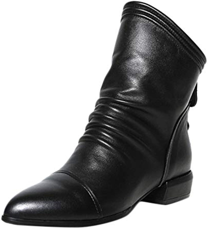 Bottes de Neige,Subfamily Bottes Plates Bottine Femmes Courtes Plates Basse Cuir Bottines Courtes Femmes Bottines épaisses Chaussures...B07K6QP76BParent bda9fe