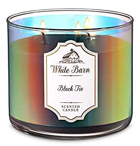 1 Bath /& Body Works White Barn BLACK TIE 3-Wick Scented Candle 14.5 oz