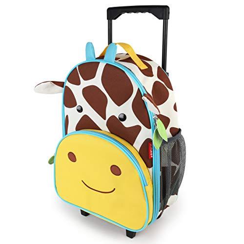 Skip Hop Zoo Luggage, Reisetrolley für Kinder, mit Namensschild, mehrfarbig, Giraffe Jules