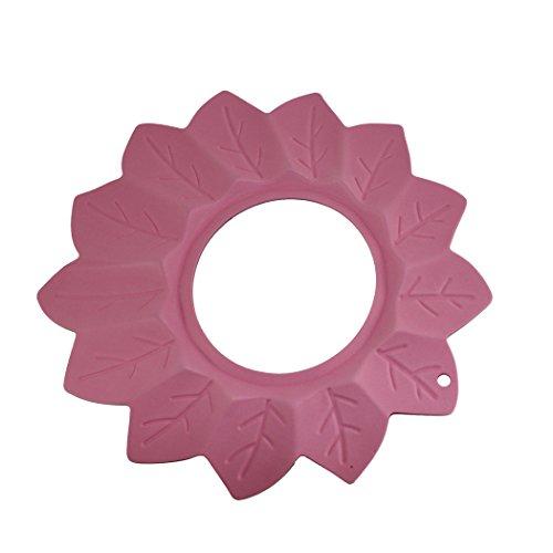 Dianoo sicuro shampoo doccia bagnarsi bagno proteggere morbido berretto cappello per bambino e bambini (Rosa)