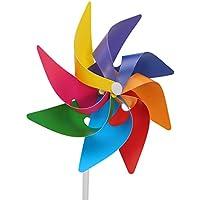 Haven Shop 6 piezas molinillo de viento, molinillo de viento para jardín, decoración de jardín, molino de viento de rueda de arcoíris, molinillo de viento, remolino, regalo de Navidad para niños