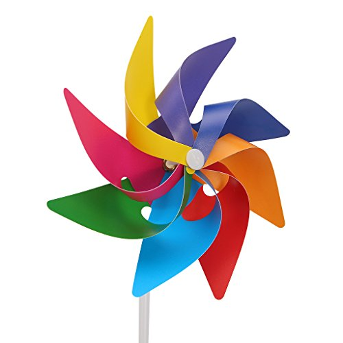 wiffe Garten Yard Party Camping Windmühle Wind Spinner Ornament Dekoration Kinder Spielzeug