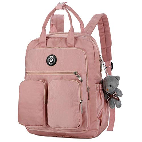 9fd80441035a Hatime CWomen Backpack Multi-Pocket Large Capacity Waterproof for Outdoor  Travel School (Pink)
