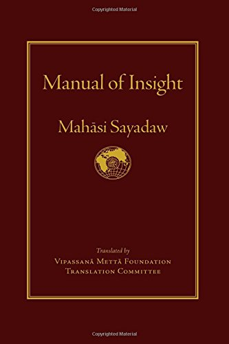 Manual of Insight por Mahasi Sayadaw
