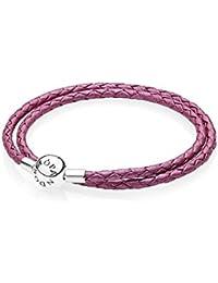 "Pandora Armband ""Pinkfarbenes Leder""-35 cm"