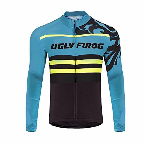 Uglyfrog 2018 M50 Neue Winter with Fleece Männer Radfahren Langarm Radfahren Jersey eine Menge Farben Antislip Ärmel Road Bike MTB Top Riding Shirt (Assos Winter-handschuh)