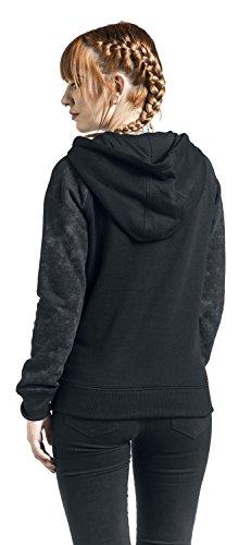 RED by EMP Earthgazer Sweat capuche Femme noir/gris noir/gris
